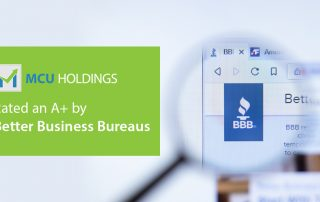 BBB company website with logo close up